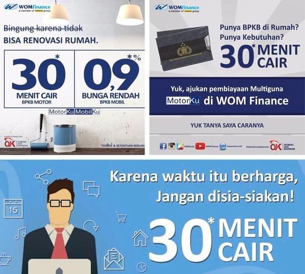 Gadai BPKB Motor di WOM Finance (Proses Cepat 30 Menit Cair)